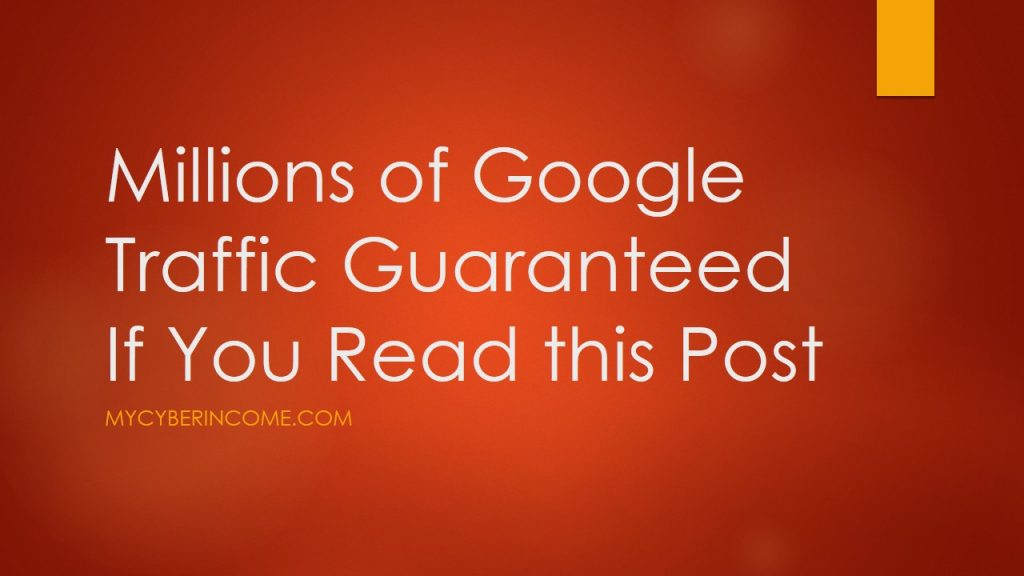How to get traffic from google