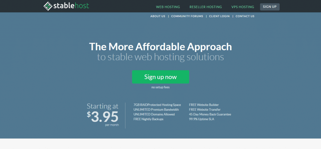 Affordable Web Hosting StableHost