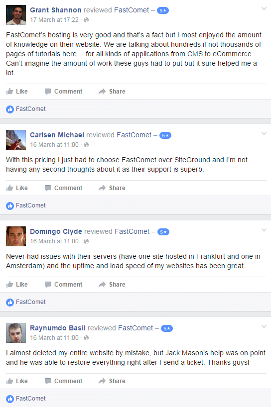 fastcomet public review