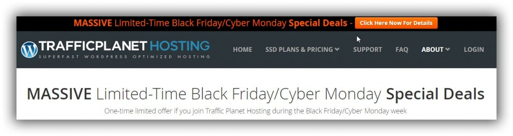 traffic planet hosting black friday sales