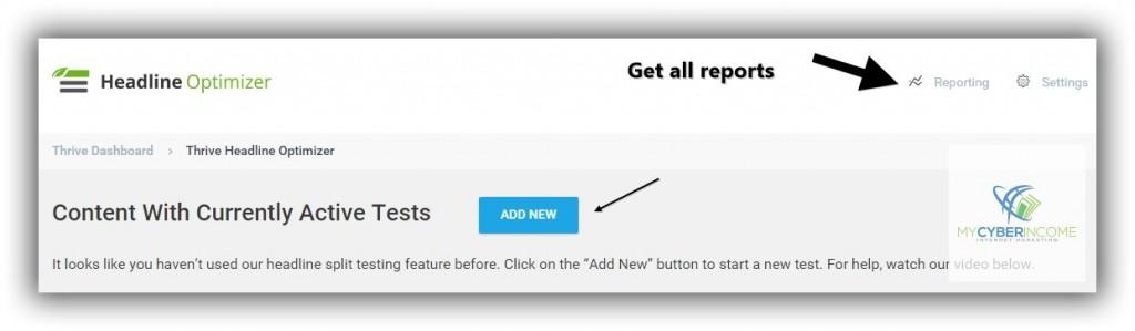 headline optimizer setup