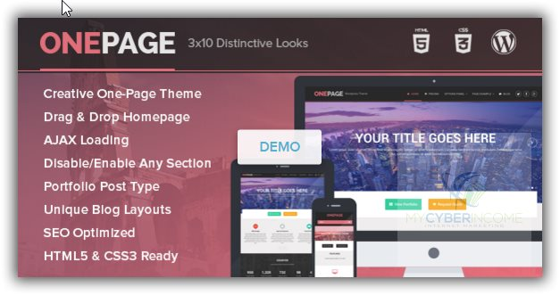 onepage wordpress theme for business