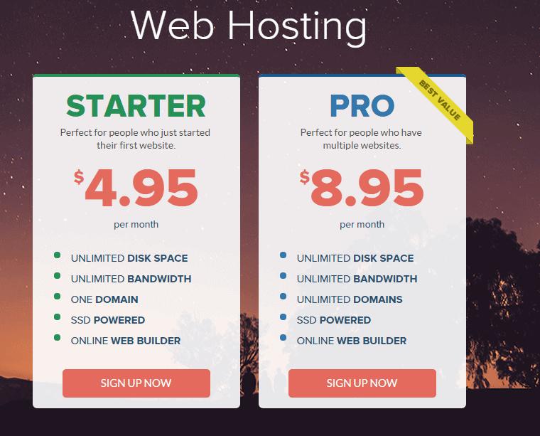 Stablehost webhosting plans