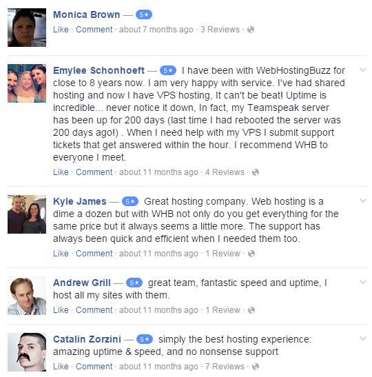 webhostingbuzz facebook review