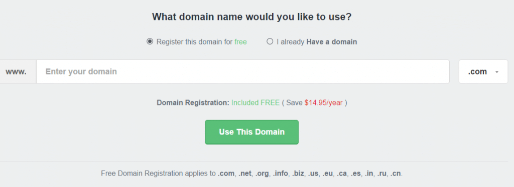 fastcomet free domain for life