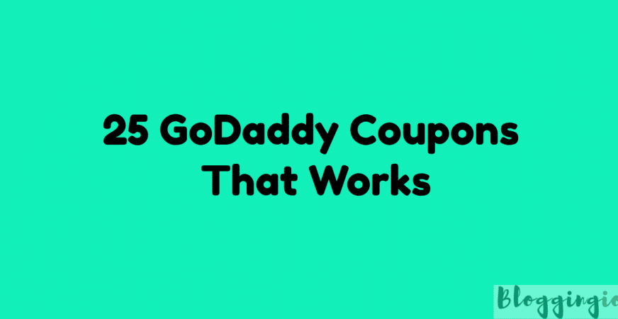 Godaddy Coupons August 2018 25 Best Promo Codes