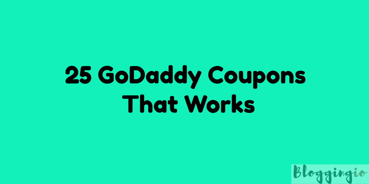 GoDaddy Coupon India