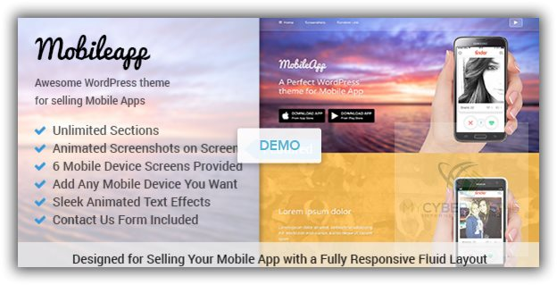 best wordpress themes for promoting mobile applications