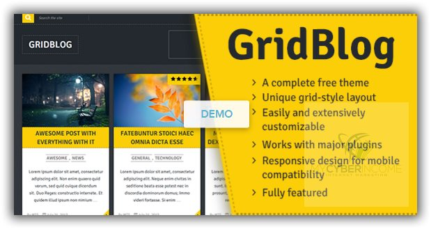 griblog free wordpress theme for blog