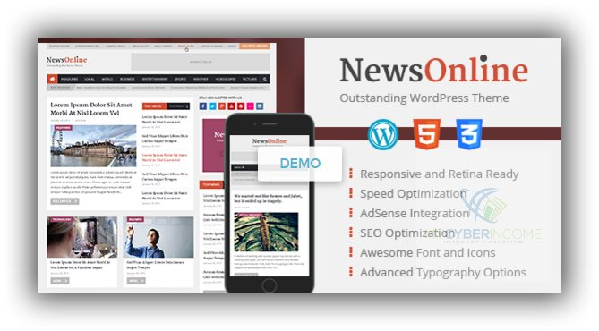 newsonline magazine wordpress theme