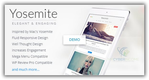 wordpress theme for blogs yosemite
