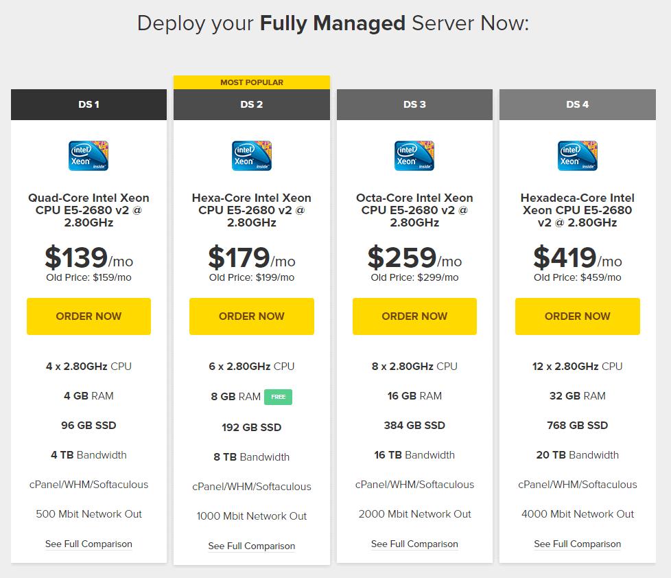 FastComet dedicated server hosting