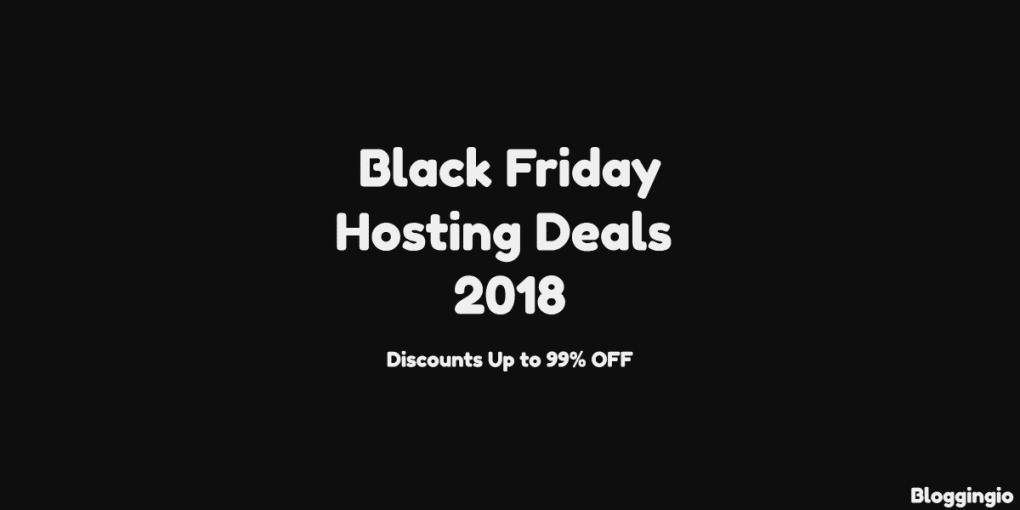 Black Friday Web Hosting Deals 2018