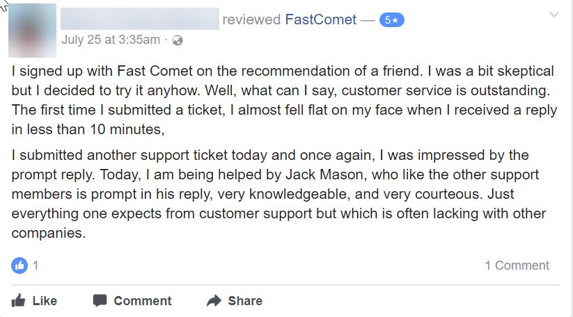FastComet Review: Honest Opinion After 40 Months Usage 22
