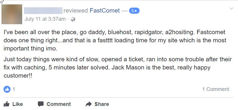 FastComet Review: Honest Opinion After 40 Months Usage 24
