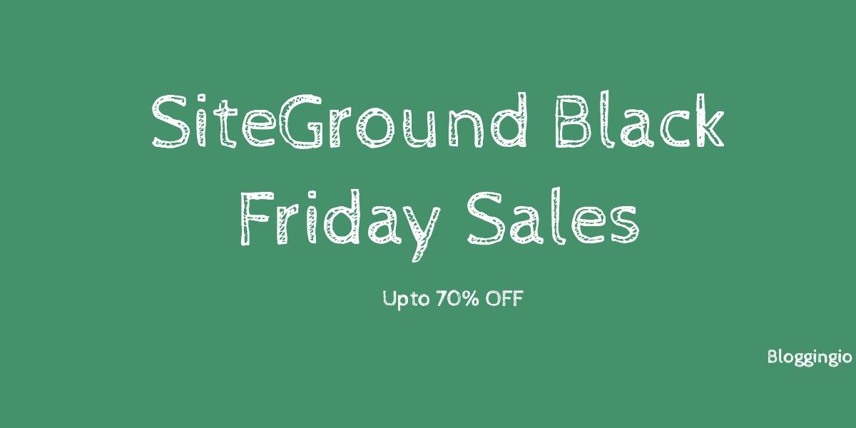 SiteGround Black Friday Deals