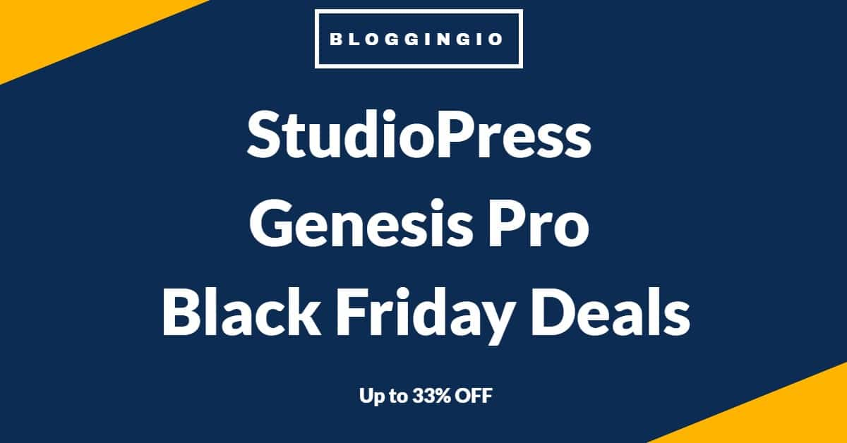 StudioPress Black Friday Deals