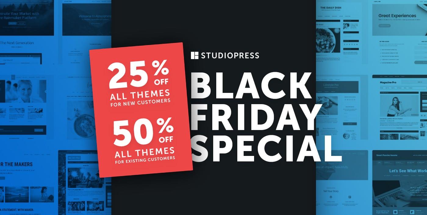 StudioPress Black Friday Deals 2018 (FLAT 25% OFF) 1