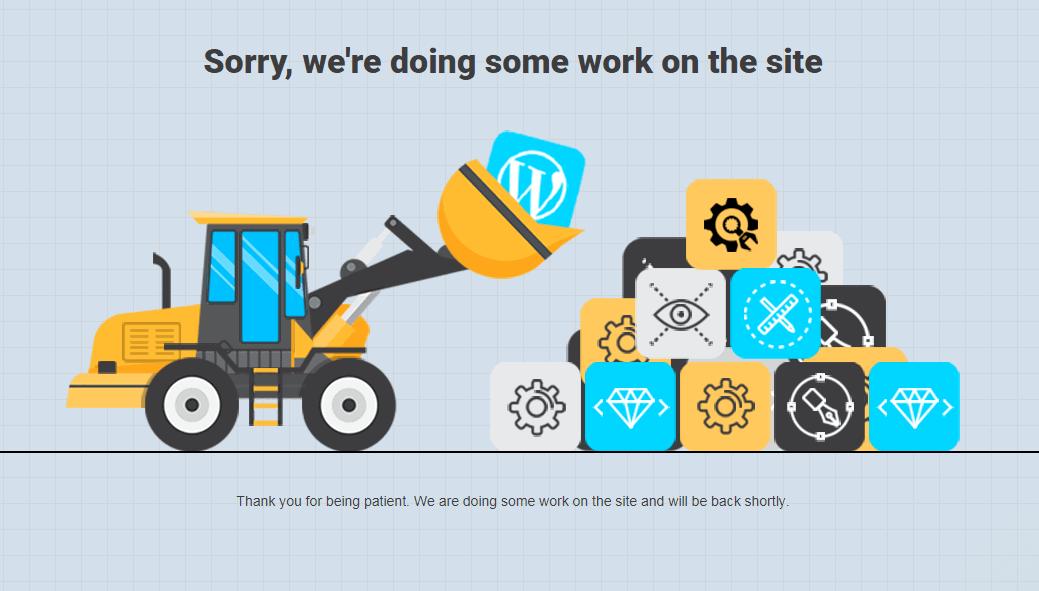 Under Construction Page - Best Maintenance Page Plugin? 1
