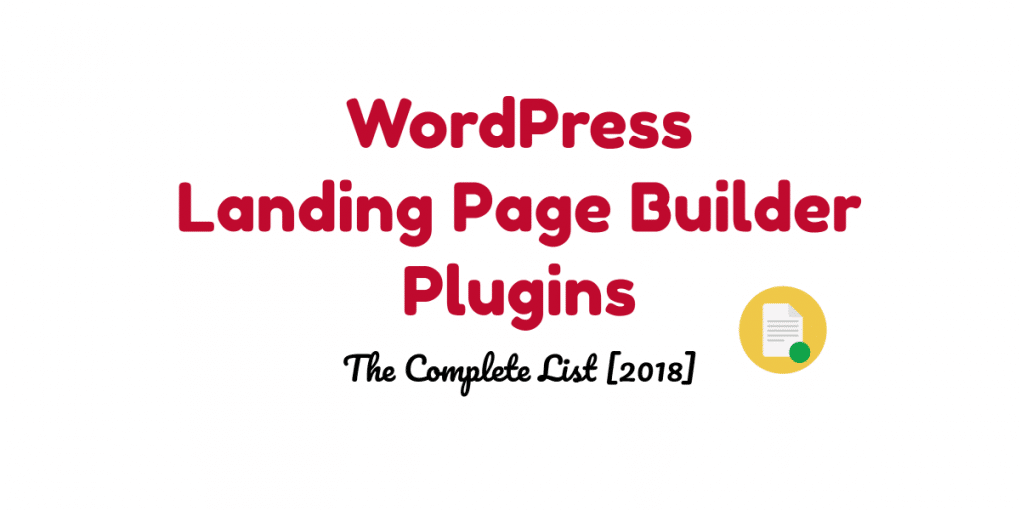 WordPress landing page builder