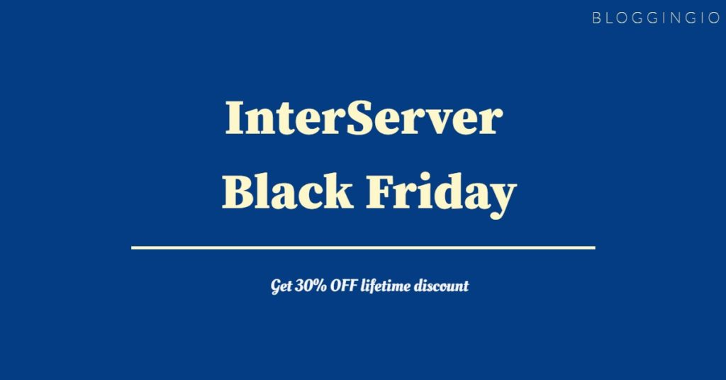 InterServer Black Friday