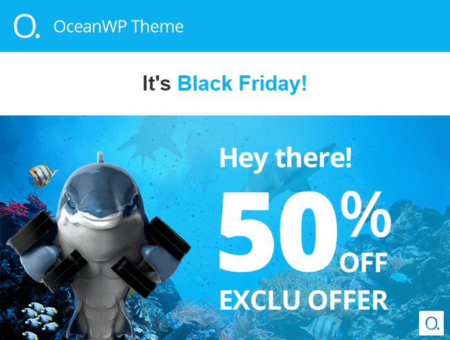 OceanWP Black Friday Pricing