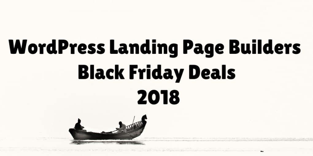 WordPress Landing Page Builders Black Friday Deals