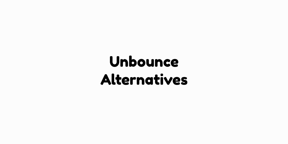Unbounce Alternatives