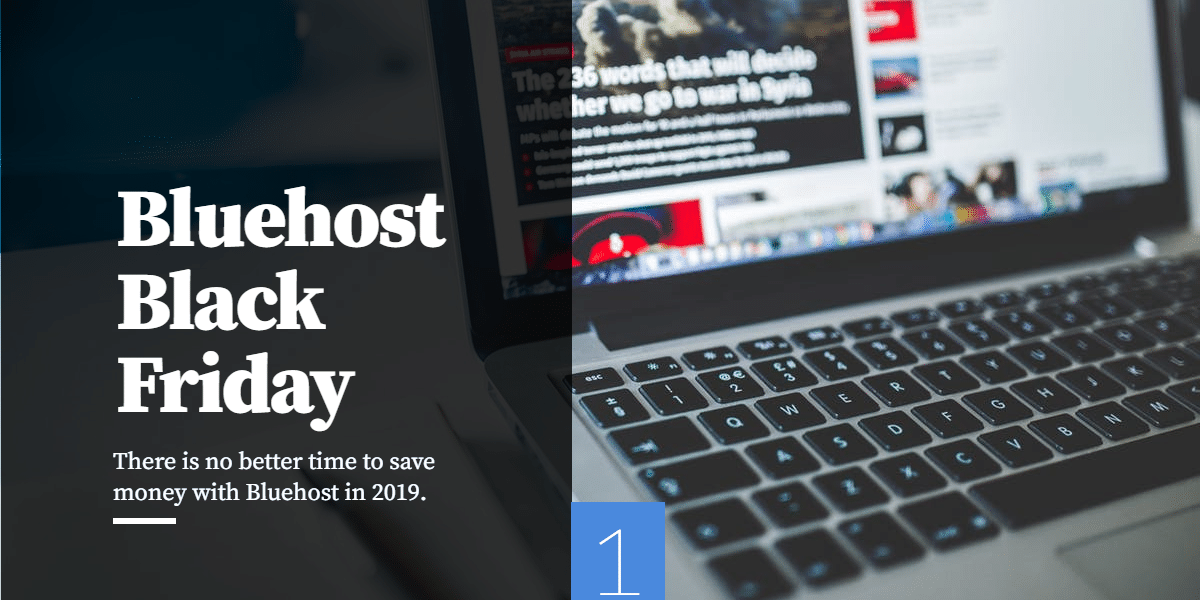 Bluehost Black Friday Coupon 2019