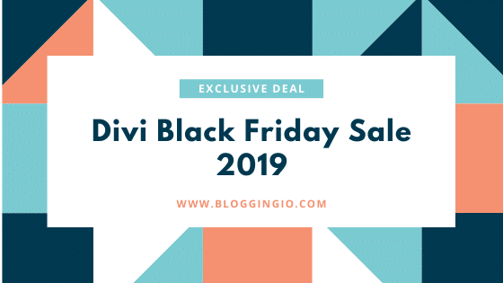Divi Black Friday Sale 2019