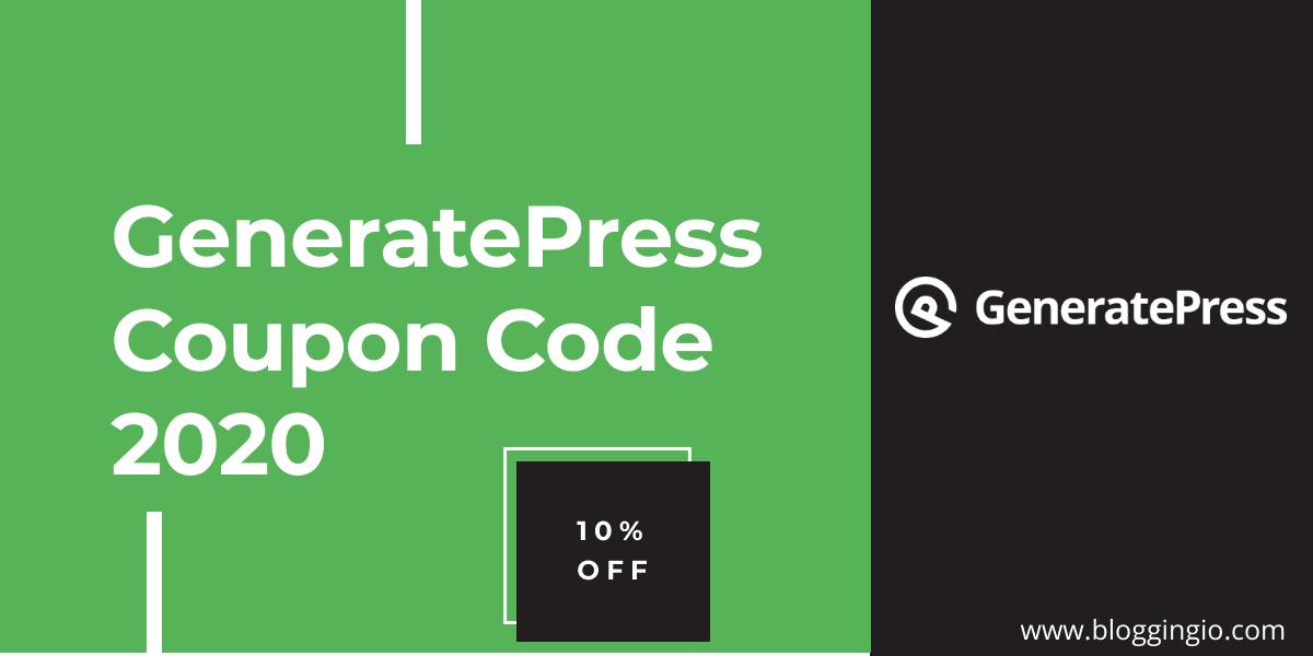 GeneratePress Coupon Code 2020