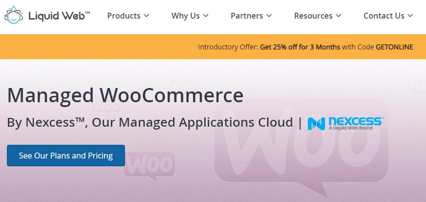 Liquid Web WooCommerce Hosting Home