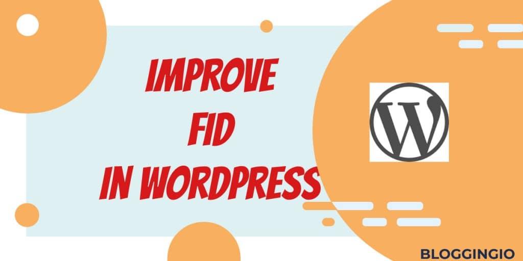 Optimize FID WordPress