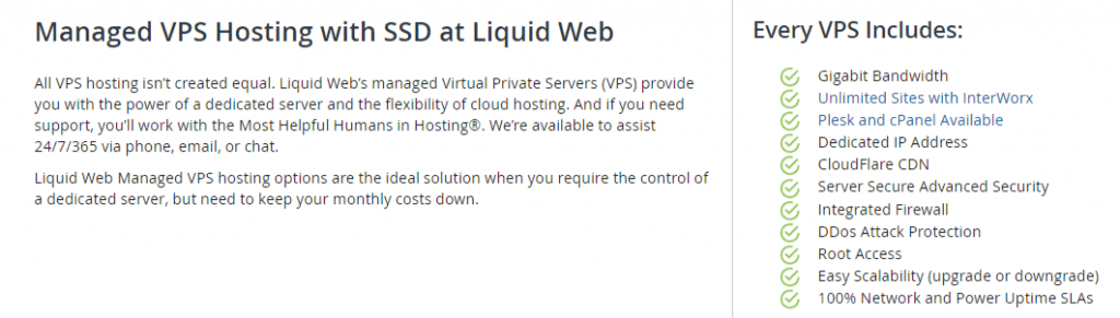 Liquid Web VPS Plans