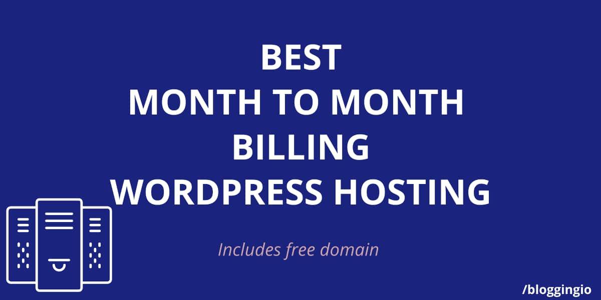 WordPress Hosting Monthly Billing
