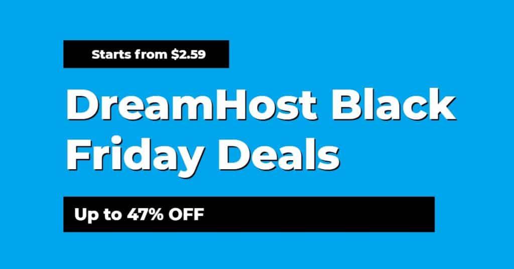DreamHost Black Friday Deals 2020