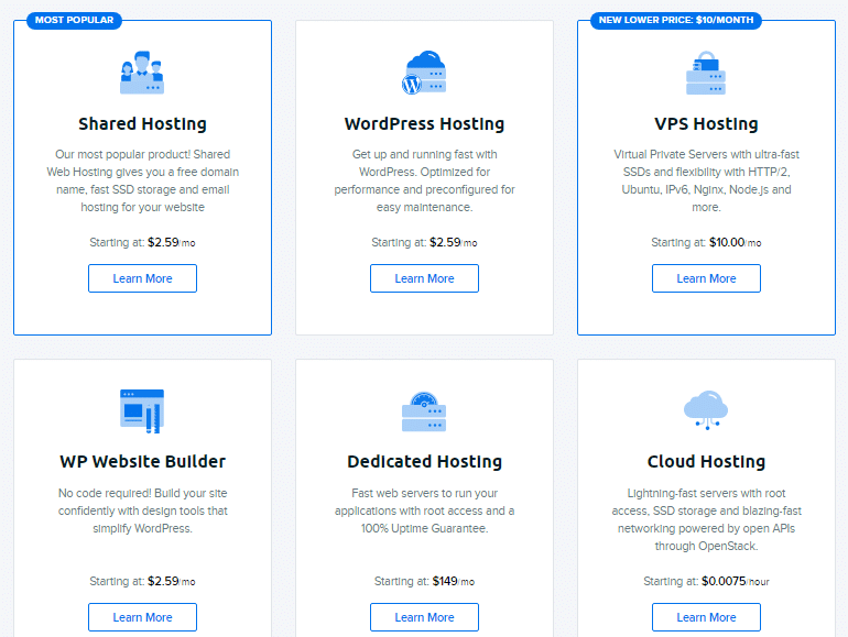 DreamHost Black Friday Pricing