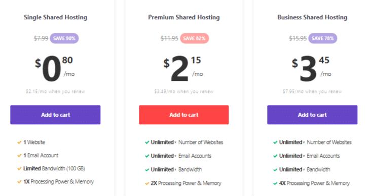 Hostinger Black Friday Pricing