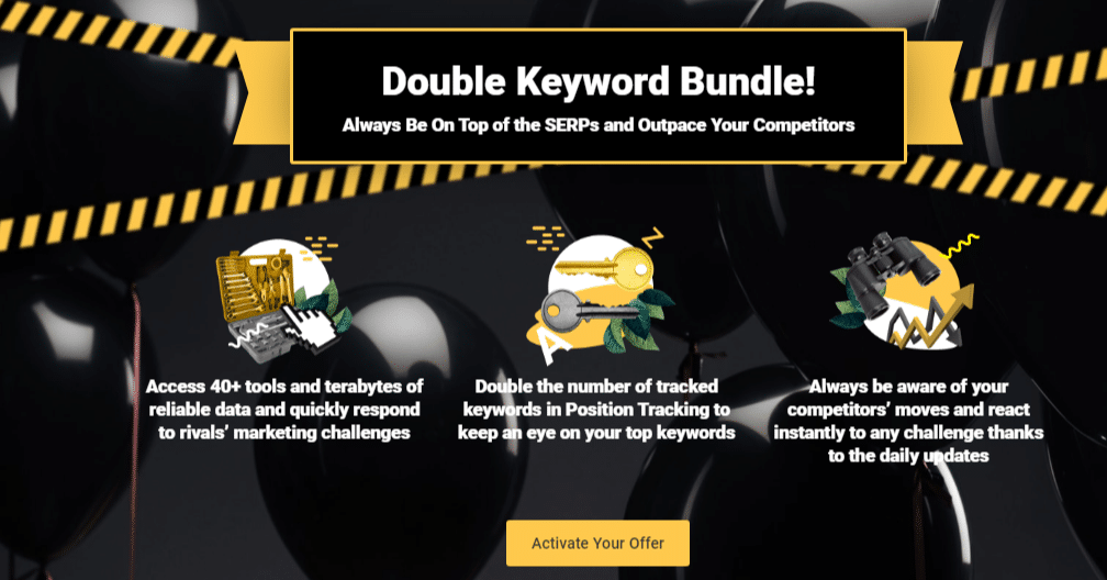 Double Keyword Bundle Black Friday