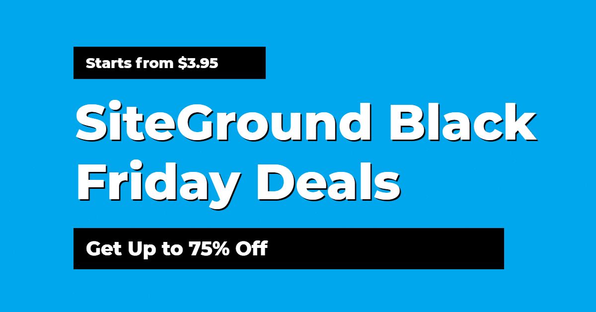 SiteGround Black Friday