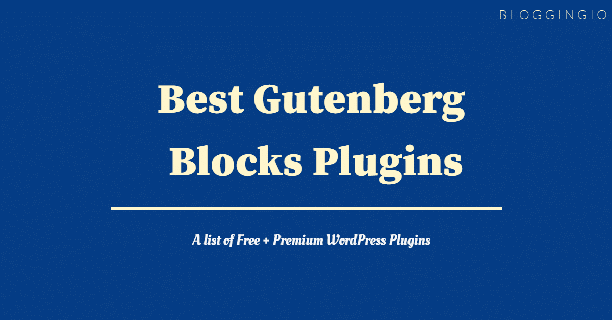 Best Gutenberg Blocks Plugin