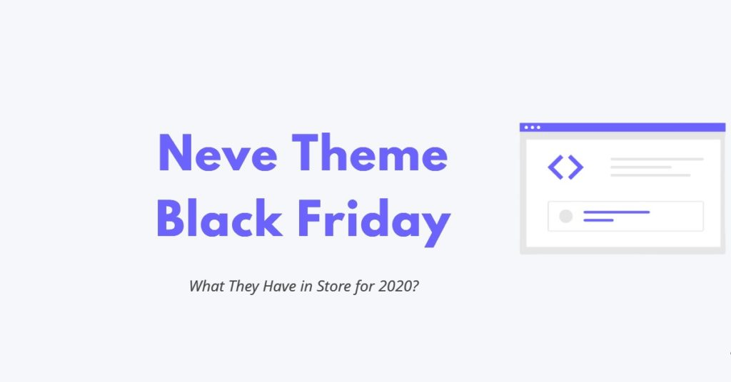Neve Theme Black Friday