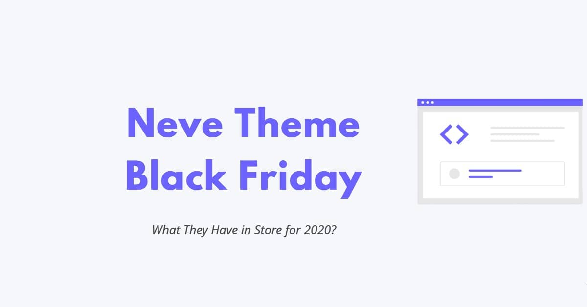 Neve Theme Black Friday