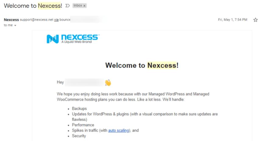 Nexcess Signup