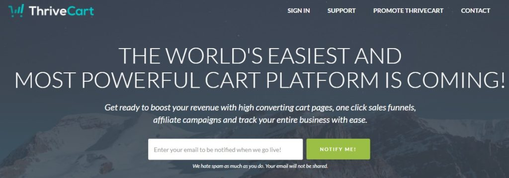 ThriveCart Homepage