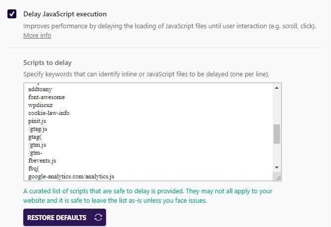 Delay JavaScript Execution