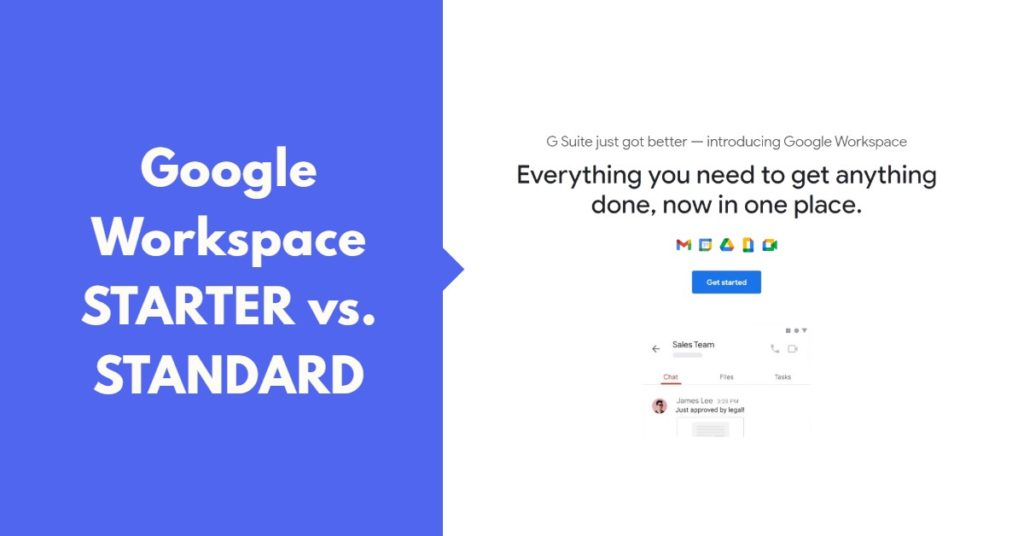 Google Workspace Starter Vs Standard