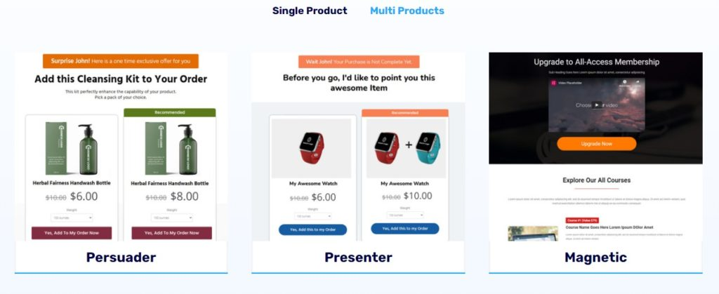 Multiple Product Upsell