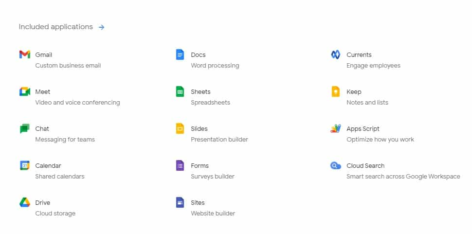 Workspace applications