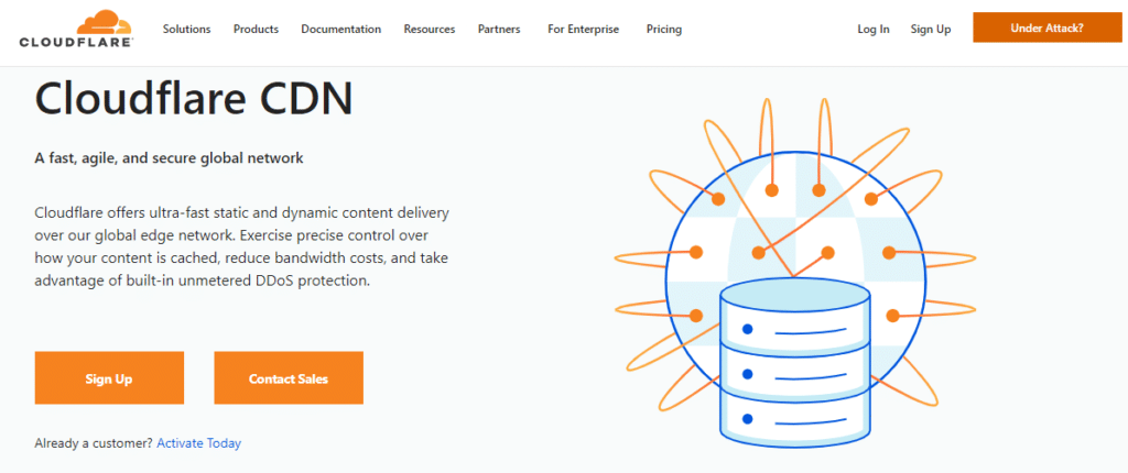 Cloudflare CDN Home